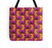 Golden Axolotl Halloween Pattern Tote Bag