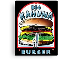 Big KAHUNA Burger - White Background on Black Variant Canvas Print