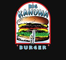 Big KAHUNA Burger - White Background on Black Variant Womens T-Shirt
