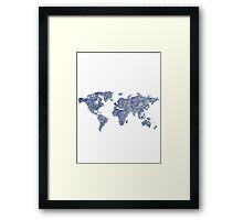 World Sketch Framed Print