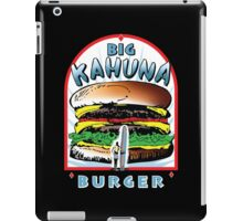 Big KAHUNA Burger - White Background on Black Variant iPad Case/Skin