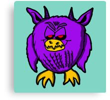 Evil Purple Owl Canvas Print