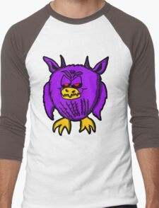 Evil Purple Owl Men's Baseball ¾ T-Shirt