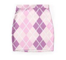 Argyle pattern in purple shades Mini Skirt