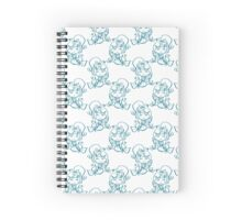 Mermaid and Fish Pattern Spiral Notebook