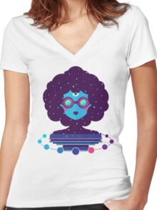 Ethereal Mistress Women's Fitted V-Neck T-Shirt