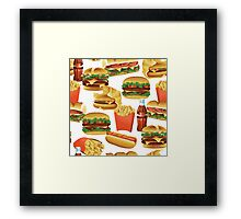 Fast Food - Or, All the Nice Things I Can't Have - White Framed Print