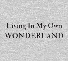 Living In My Own Wonderland (All Black) Kids Tee