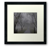 Spooky Gate Framed Print