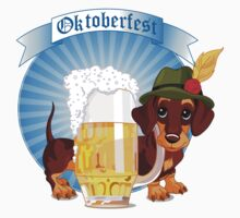 Cute dog with beer labels One Piece - Long Sleeve