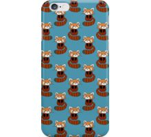 Cute Red Panda Blue Pattern iPhone Case/Skin
