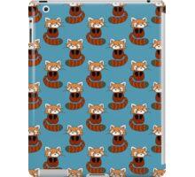 Cute Red Panda Blue Pattern iPad Case/Skin