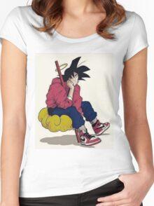 Goku in cloud Women's Fitted Scoop T-Shirt
