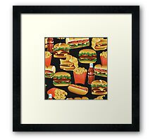 Fast Food - Or, All the Nice Things I Can't Have - Charcoal Framed Print
