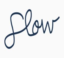 Flow Logo - Blue Kids Tee