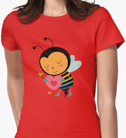 Bee Mine Womens Fitted T-Shirt
