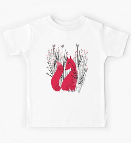 Fox in Shrub Kids Tee