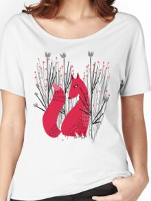 Fox in Shrub Women's Relaxed Fit T-Shirt