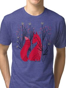 Fox in Shrub Tri-blend T-Shirt