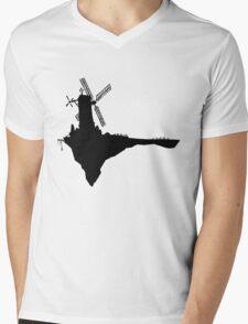 Feel Good Inc. Windmill Silhouette (Gorillaz) Mens V-Neck T-Shirt