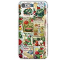 Vintage Fruits and Veggies iPhone Case/Skin