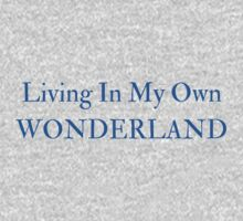Living In My Own Wonderland (All Blue) One Piece - Short Sleeve