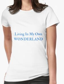Living In My Own Wonderland (All Blue) Womens Fitted T-Shirt