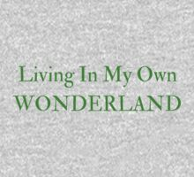 Living In My Own Wonderland (All Green) One Piece - Long Sleeve