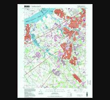 USGS TOPO Map New Jersey NJ Woodbury 255010 1995 24000 Unisex T-Shirt