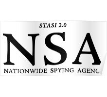 NSA - Nationwide Spying Agency Poster