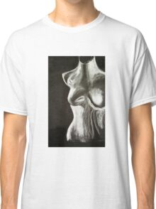 mannequin drawing in chalk on a black background Classic T-Shirt