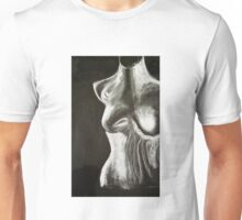 mannequin drawing in chalk on a black background Unisex T-Shirt