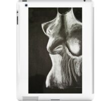 mannequin drawing in chalk on a black background iPad Case/Skin