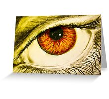 Drawing of eye with orange pupil Greeting Card