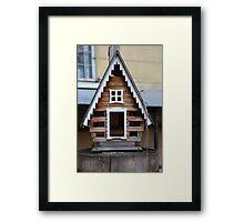 birdhouse feeder Framed Print