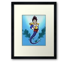 Rocko Vegeta Genie man Framed Print
