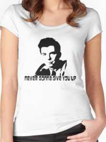 Rick Astley Hardcore Memeing Women's Fitted Scoop T-Shirt