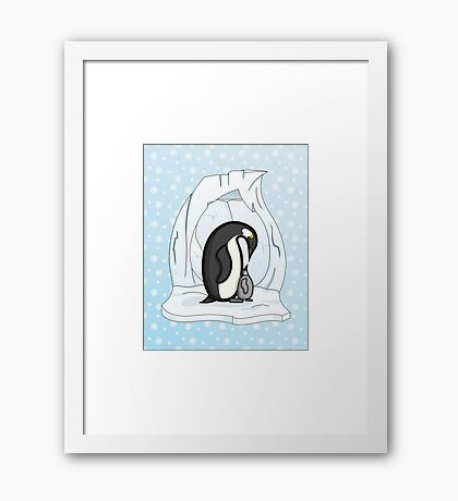 Davin and Annie the Penguins Framed Print