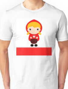 Cute beautiful Red riding hood with basket Unisex T-Shirt