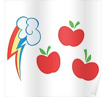 My little Pony - Applejack + Rainbow Dash Cutie Mark V3 Poster