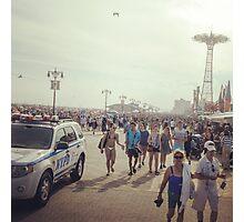 Coney Island Boardwalk in Summer Photographic Print