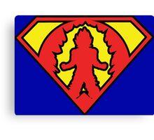 Superman vs Goku - Super Saiyan Symbol Canvas Print