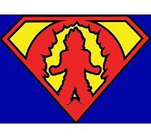 Superman vs Goku - Super Saiyan Symbol Photographic Print