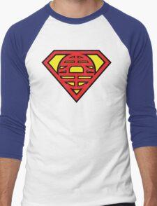 Superman vs Goku - King Kai Symbol Men's Baseball ¾ T-Shirt