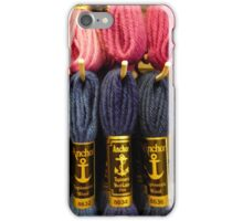 Wonderful pink and blue tapestry wool iPhone Case/Skin