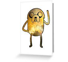 Jake The Dog - Galaxy Edition Greeting Card