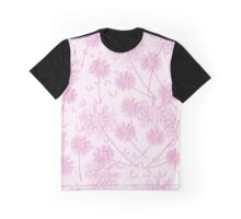 Dandelion Plants, Flower Heads - Pale Pink Graphic T-Shirt