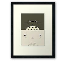 Totoro ft. Radish Spirit Framed Print