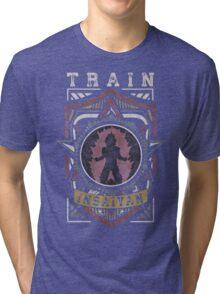 TRAIN INSAIYAN (Shield Logo) Tri-blend T-Shirt