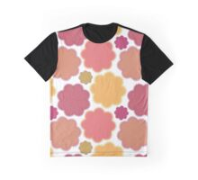 Flowers, Petals, Blossoms - Yellow Green Pink Graphic T-Shirt